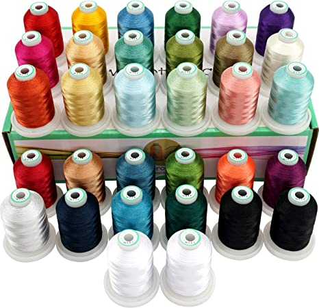 JANOME SEWING MACHINE BOTTOM LOWER BOBBIN THREAD 1000m WHITE Embroidery