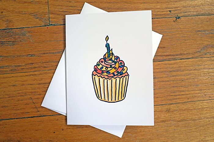 Amazon Funny Birthday Card I Remembered Cupcake With Candle