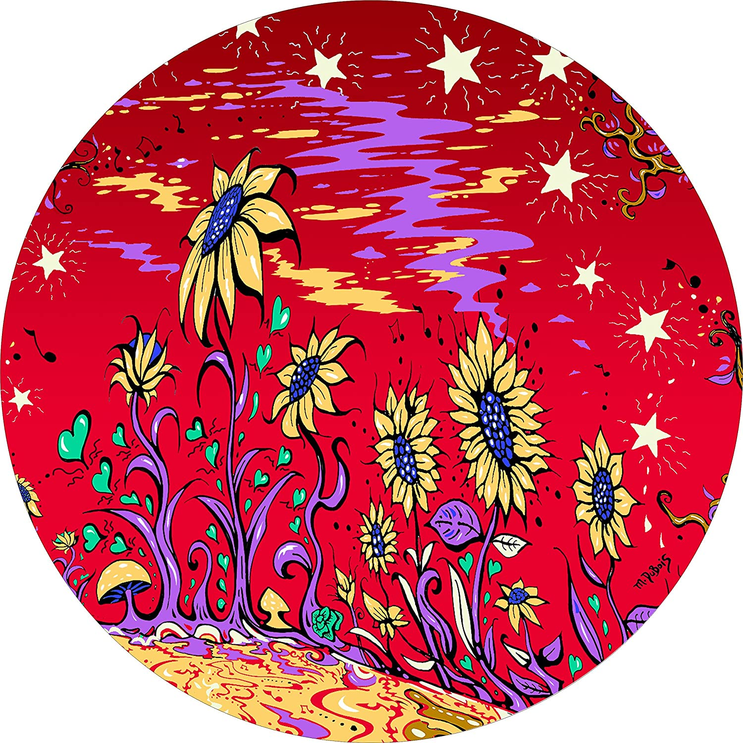 Sunflower Field RED Spare Tire Cover for 205/75R14 Jeep RV Camper & More(Select Popular Sizes in Drop Down menu or Contact us Dubois(c) TireCoverCentral