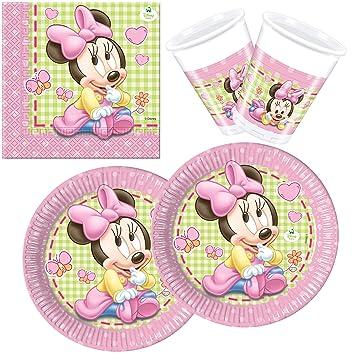 Procos 10108564B - Set para fiesta infantil - Disney Baby Minnie, tamaño S, 36 piezas