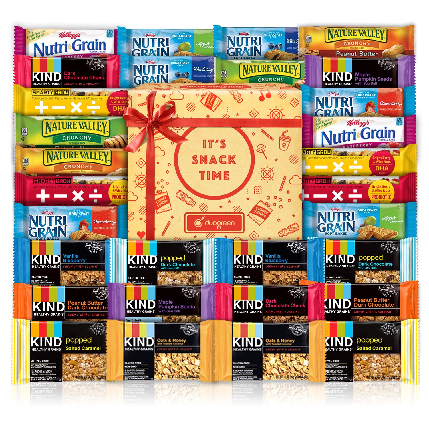 Healthy Bars Variety Pack Care Package (30 Count) by Duogreen (Image #1)