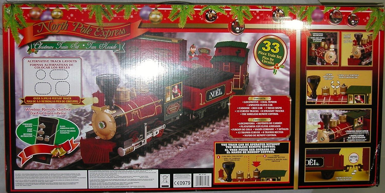 Amazon.com: Santas North Pole Express Holiday Christmas Train Set ...