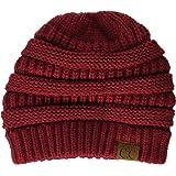 1d27e9a6d0e00 Funky Junque Ponytail Messy Bun BeanieTail Women s Beanie Solid Ribbed Hat  Cap