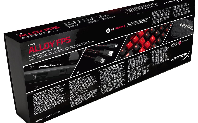 HyperX Alloy FPS USB QWERTZ Allemand Noir avec Fil, USB, Clavier m/écanique, QWERTZ, LED, Noir Claviers