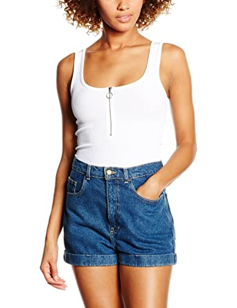 Womens Zip Front Tank Top New Look Buy Cheap Countdown Package Low Shipping Fee For Sale Big Sale Sale Online Free Shipping Latest NB4k5kej