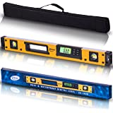 24-Inch Professional Digital Magnetic Level - IP54 Dust and Waterproof Electronic Level Tool - Get Master Precision with Shefio Smart Level, 2 AA Batteries + Carrying Bag