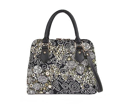 83cf0125eb Borsa Signare a spalla convertibile in tessuto stile arazzo alla moda  Gustav Klimt (Il bacio