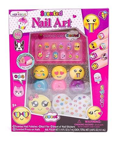 Amazon Hot Focus Scented Nail Art Kit Emoji Girls Nail Kit