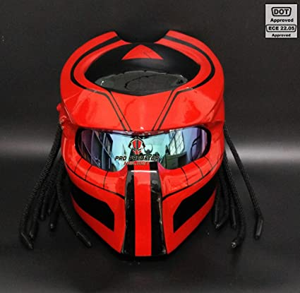 Custom made Predator Motorcycle Dot Helmet SY02 by Pro Predator Helmet … (XXL)
