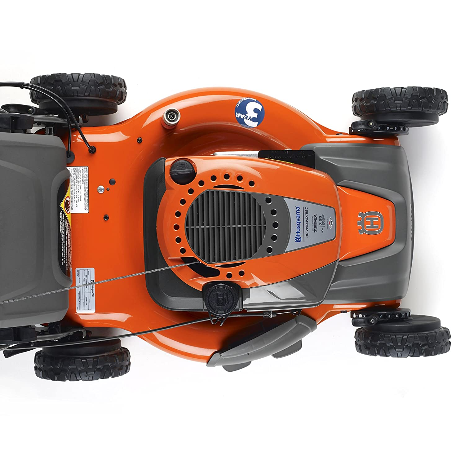 Husqvarna 961430103 HU725AWD 22-Inch 3-in-1 AWD Mower with Briggs &  Stratton 725ex Engine, CARB Compliant