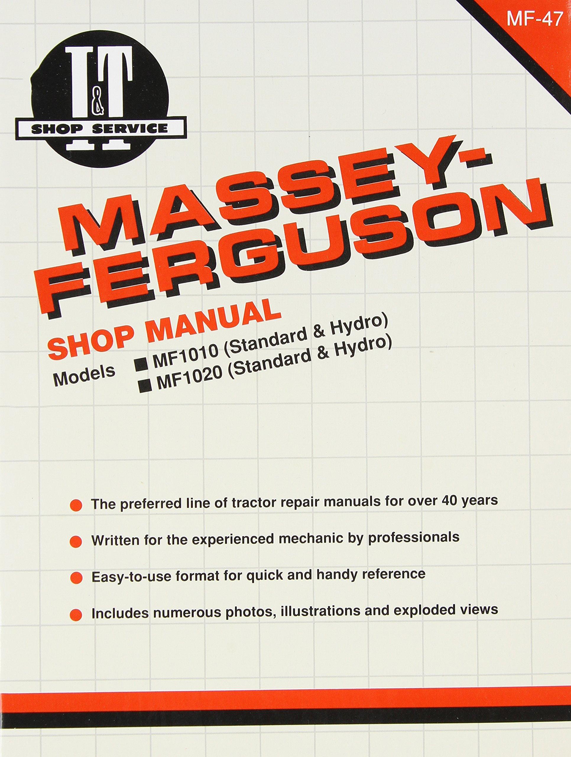 Massey Ferguson Shop Manual Models 1010 & 1020 (I & T Shop Service Manuals):  Penton Staff: 0024185856825: Amazon.com: Books