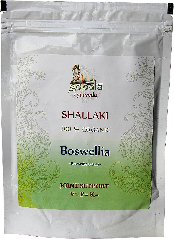 Shallaki (Boswellia serrata) en polvo BIO (250 gr), Planta ayurveda para el dolor artrítico, Regeneración celular, Sumplemento vitamina C natural, ...