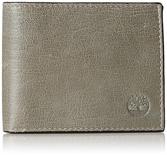 faba5192d Timberland - portafolios de piel con bolsillo con tapa para hombre, Grey  (Fine Break