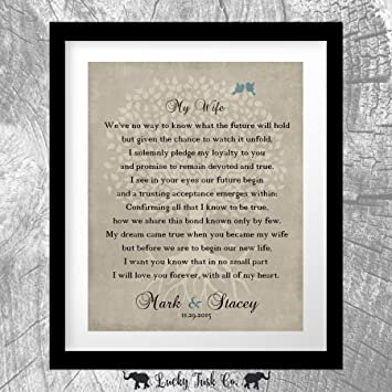 Amazon Thank You Gift For Wife At Wedding Love Poem