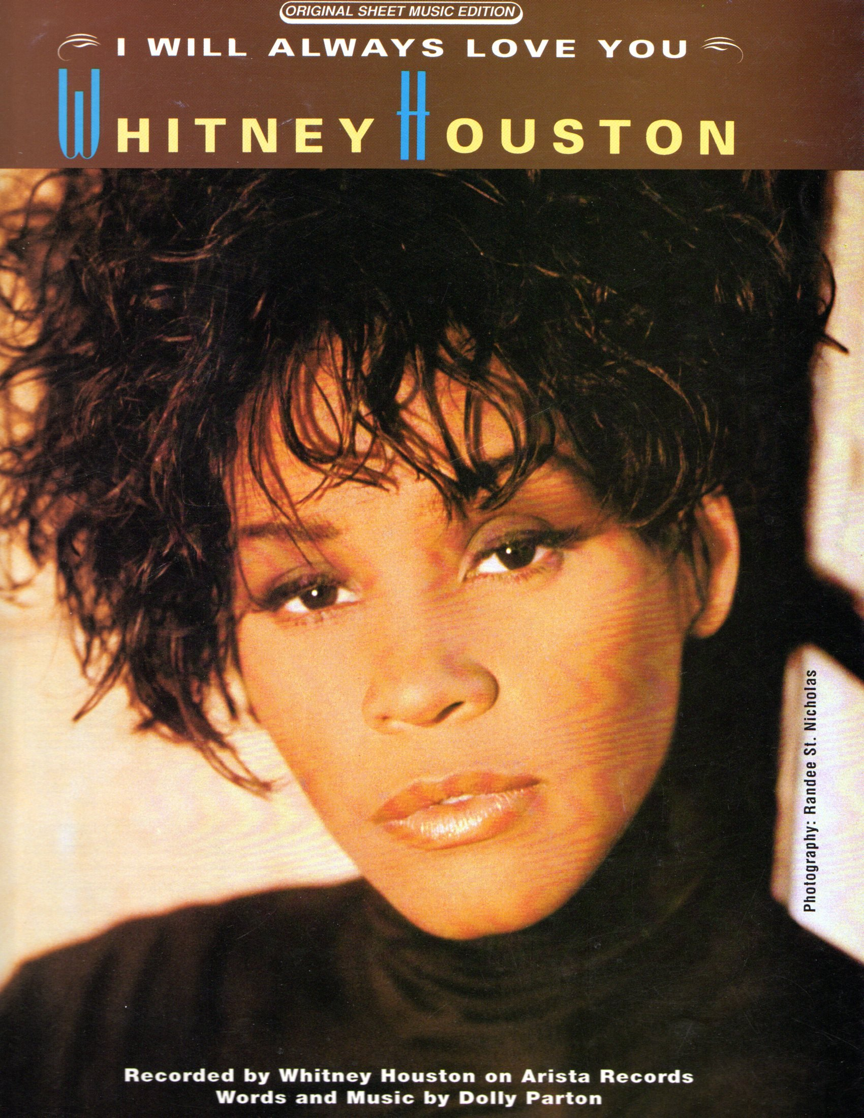 i will always love you as sung by whitney houston original sheet music edition