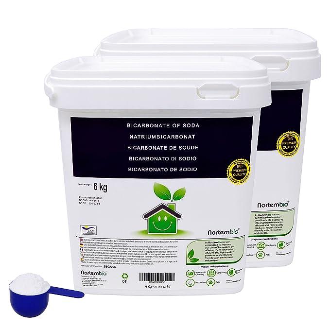 NortemBio Bicarbonato de Sodio 2x6kg, Insumo Ecológico de Origen Natural, Libre de Aluminio, Producto CE.: Amazon.es: Hogar
