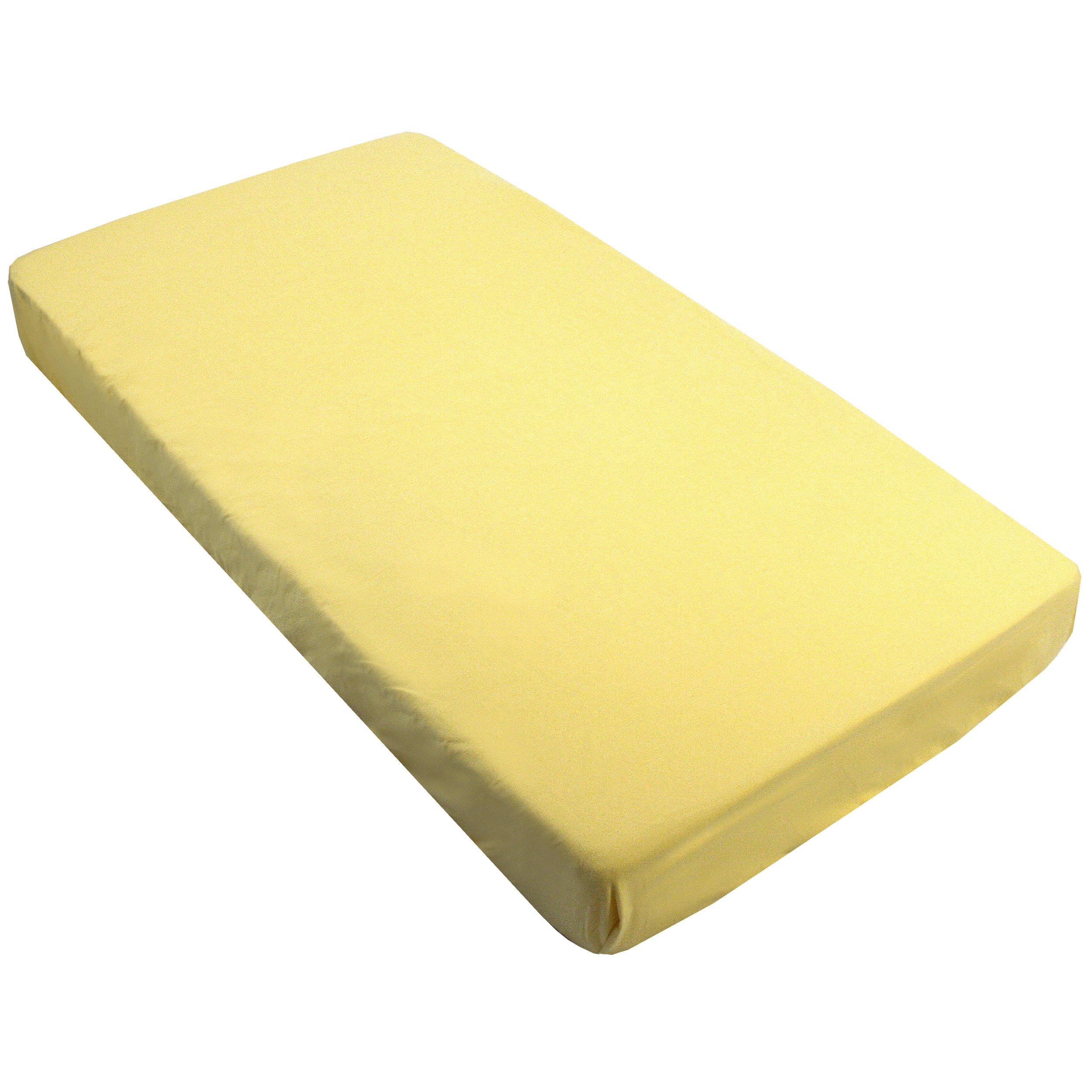 Kushies Fitted Bassinet Sheet, Yellow