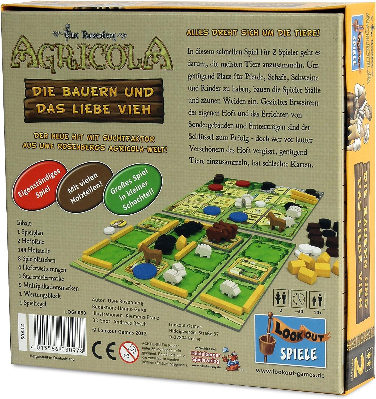 Lookout Games 22160050 – Agricola – Los Campesinos y el Amor Ganado, de 2 Jugadores de Parte de Uwe Rose Montaña: Amazon.es: Juguetes y juegos