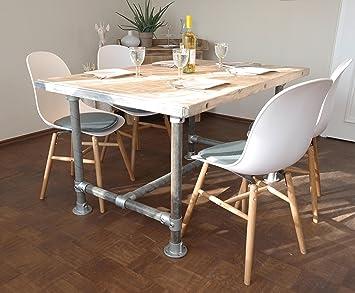 Tisch Industrie Stil Massive Esstisch Modern Neu Gerust Holz Esstisch Vintage Gartentisch Konferenztisch 4 Pers Tisch 140 L X 95 B X 78 Cm H