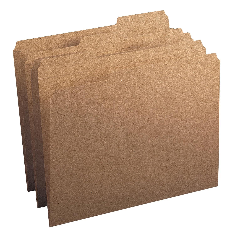 Smead Folder, Letter, 11 Point, 1/3 Cut Tab, Kraft, 100 Per Box (10734)