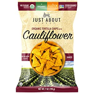 Organic Tortilla Chips with Cauliflower 7 oz. (198g) Just About Foods