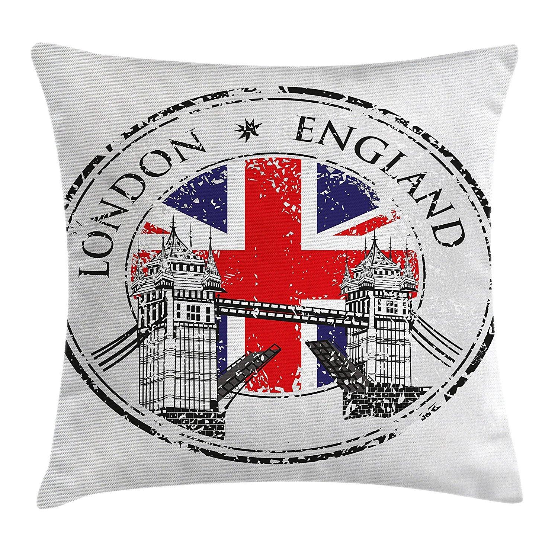 Funda de cojín con estampado de Londres Inglaterra con ...