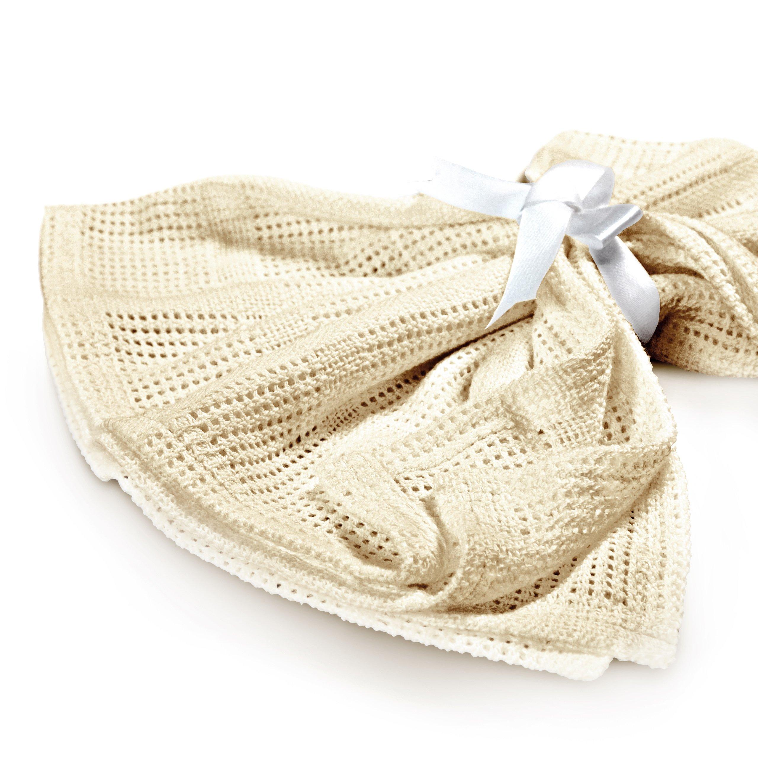 Lumaland Mantita arrullo para recién nacidos. Sin contaminantes 100% Algodón75 x 90 cm beig