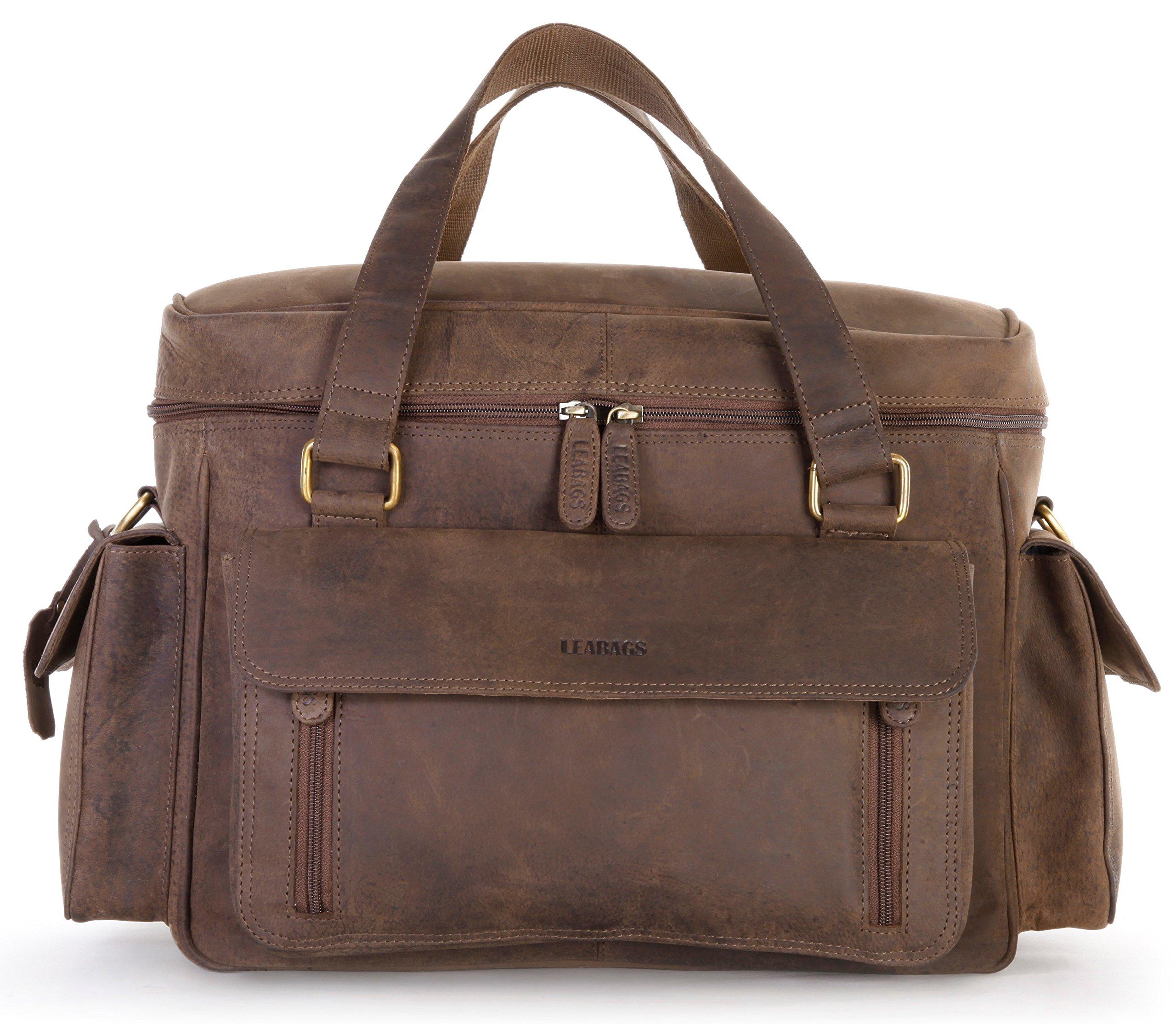 LEABAGS Zens genuine buffalo leather camera bag in vintage style - Nutmeg