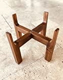 Slopper Stopper Elevated Dog Bowl Stand - Deluxe Stand ONLY - Wooden Stand 8 Inch