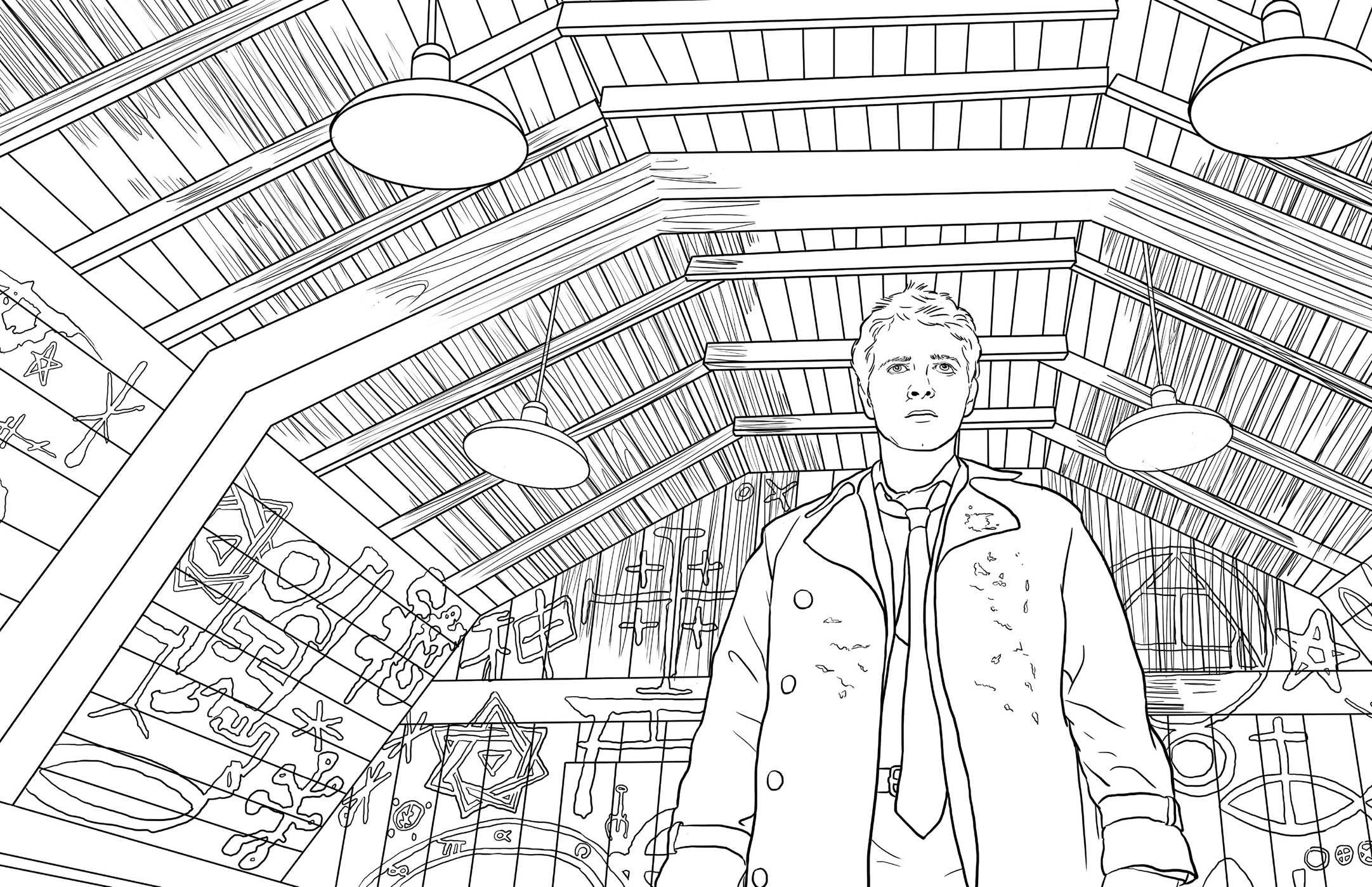supernatural coloring pages Supernatural: The Official Coloring Book: Insight Editions  supernatural coloring pages