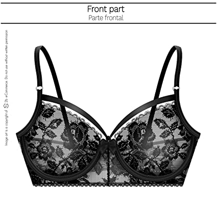 Amawi 0611 Sexy Lace Cup Bra Bowknot for Women Ropa Interior Mujer Colombiana at Amazon Womens Clothing store: