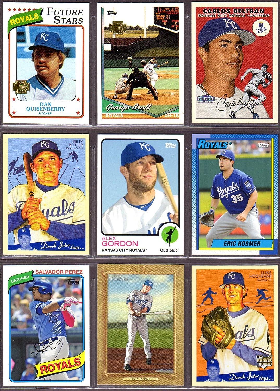 Kansas City Royals 9 Card Heros Reprint Baseball Lot 54