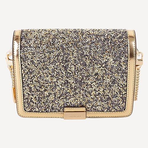 MICHAEL Michael Kors Mujeres ajuste embrague de cuero cristal Oro única Talla: Amazon.es: Zapatos y complementos