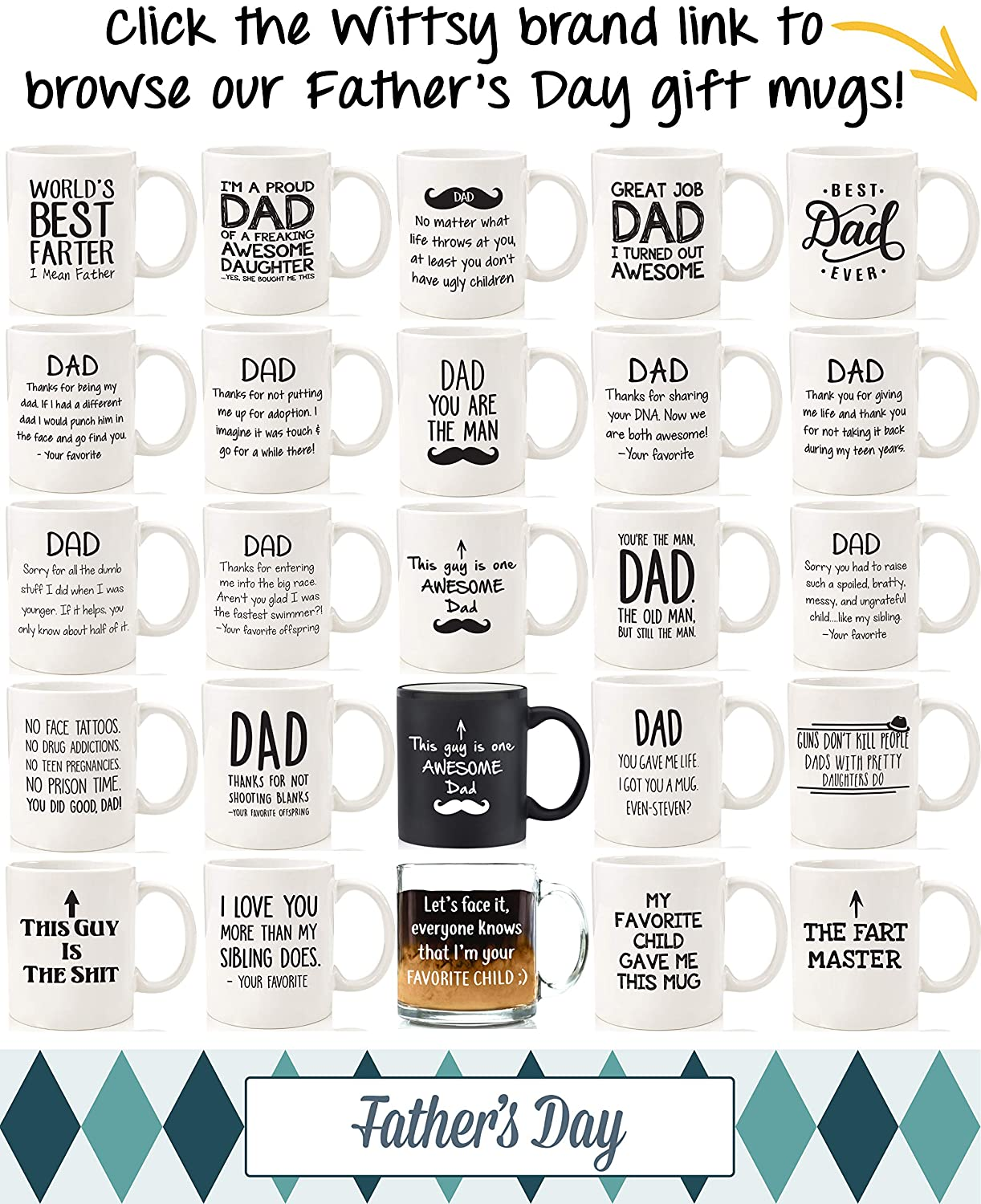 d9159477 Amazon.com: Best Dad Ever Gift Mug - Top Fathers Day Gifts For Dads,  Husband, Men - Unique Gift Idea For Him From Daughter, Son, Wife - Cool  Birthday ...
