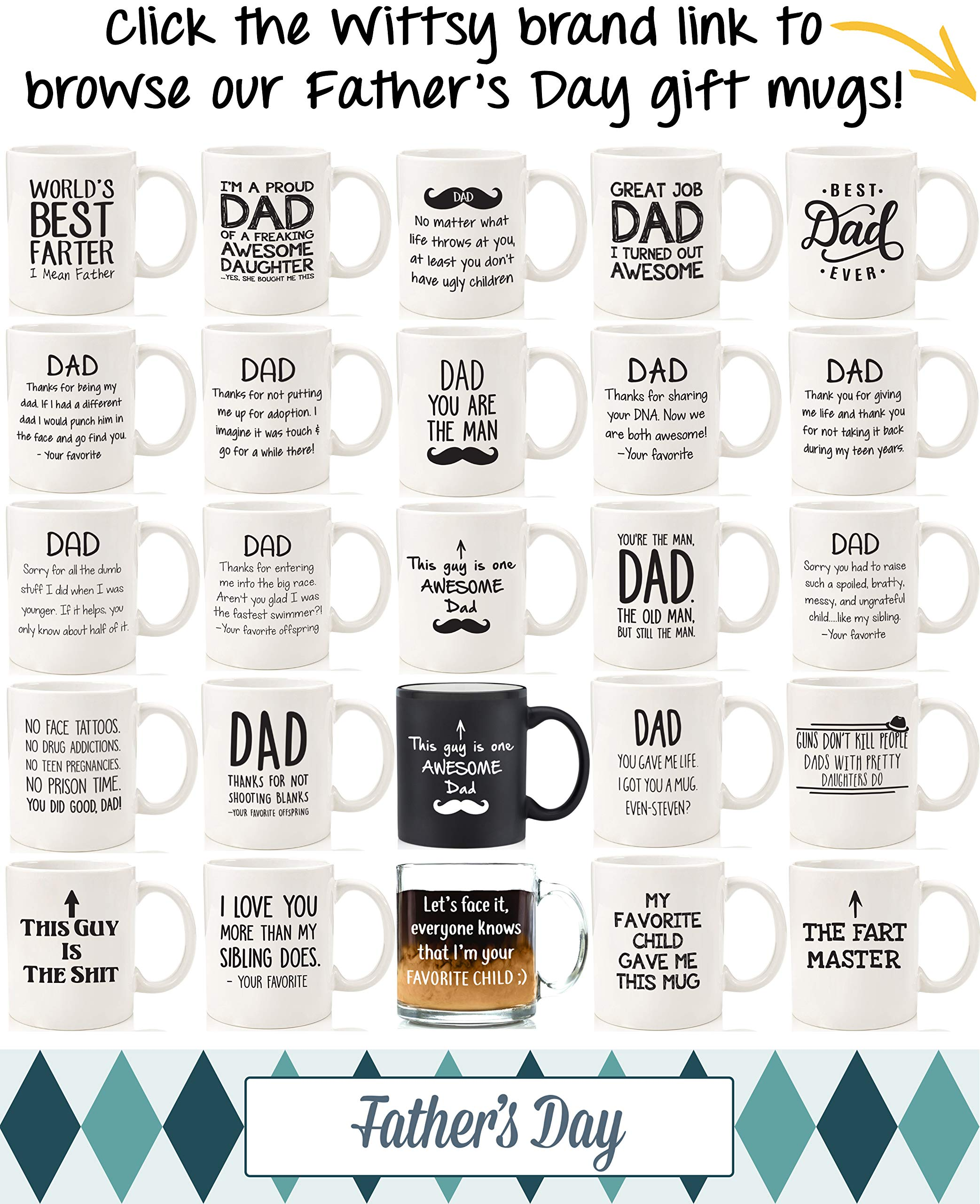 Proud Dad Of A Freaking Awesome Daughter Funny Mug - Best Fathers Day Gag Gifts For Dad From Daughter - Unique Gift Idea For Men, Him - Cool Birthday Present For a Father - Fun Novelty Coffee Cup by Wittsy Glassware and Gifts (Image #5)