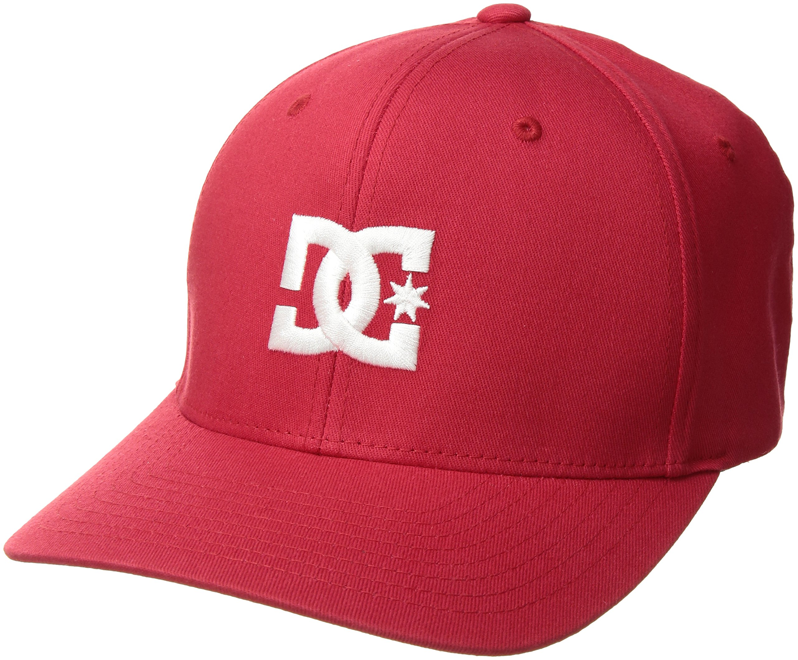 DC Shoes Mens Shoes Hat Star 2 - Flexfit Hat - Men - L - Red Tango Red L/XL
