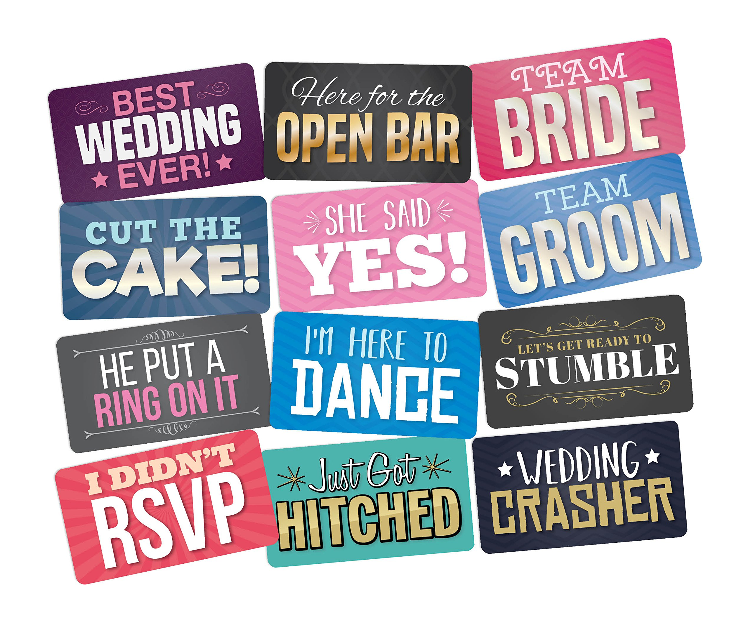 PHOTO BOOTH PROPS PACK OF 6, Perfect For Wedding DIY Photo Booth Great Addition To Any Photo Booth Rental. Fun Wedding Photo Booth Props Your Guests Will Love!
