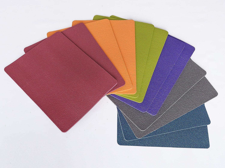 Puzzlematte, Yogafliese, Spielfliese, Sportfliese, 30x40cm aus weichem PVC Schaum Öko-Tex Standard 100-Produktklasse 1- 12 Stück bunt gemischt