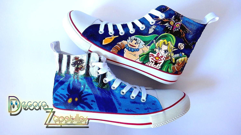 659c05f650623 Amazon.com: Zelda custom canvas shoes handpainted, sneakers low tops ...