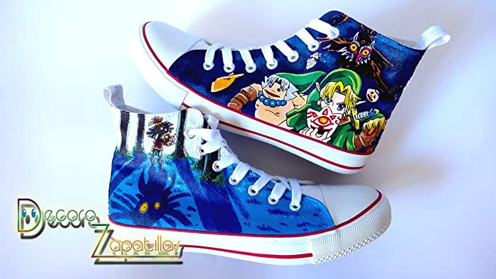 Amazon com: Zelda custom canvas shoes handpainted, sneakers