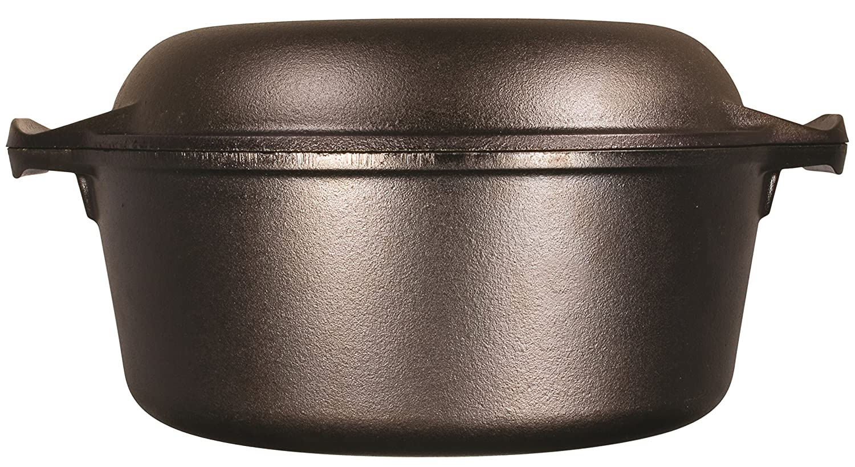 Lodge L8DD3 Cast Iron Dutch Oven, 5 qt