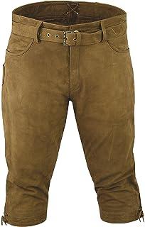 Fuente Pantalon de Chasse Homme Cuir avec Ceinture - Lederhosen- Pantalon  en Cuir-Oktoberfest 6870ad72bb7