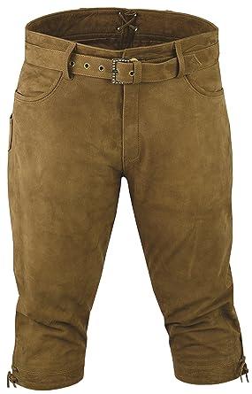 quot Fuente quot Pantalon de chasse homme cuir avec Ceinture - Lederhosen-  Pantalon en 41419f631cc