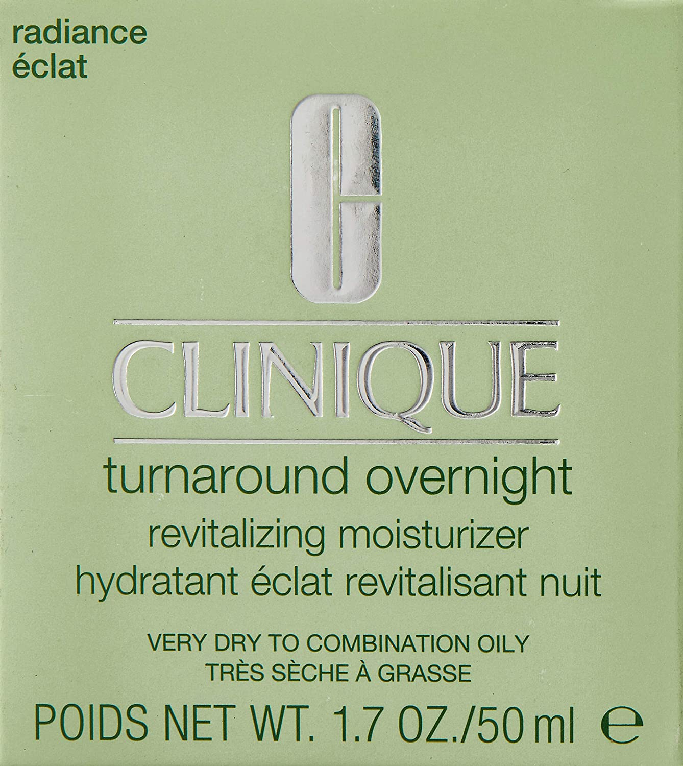 Clinique Turnaround Overnight Revitalizing Moisturizer for Women, 1.7 Ounce