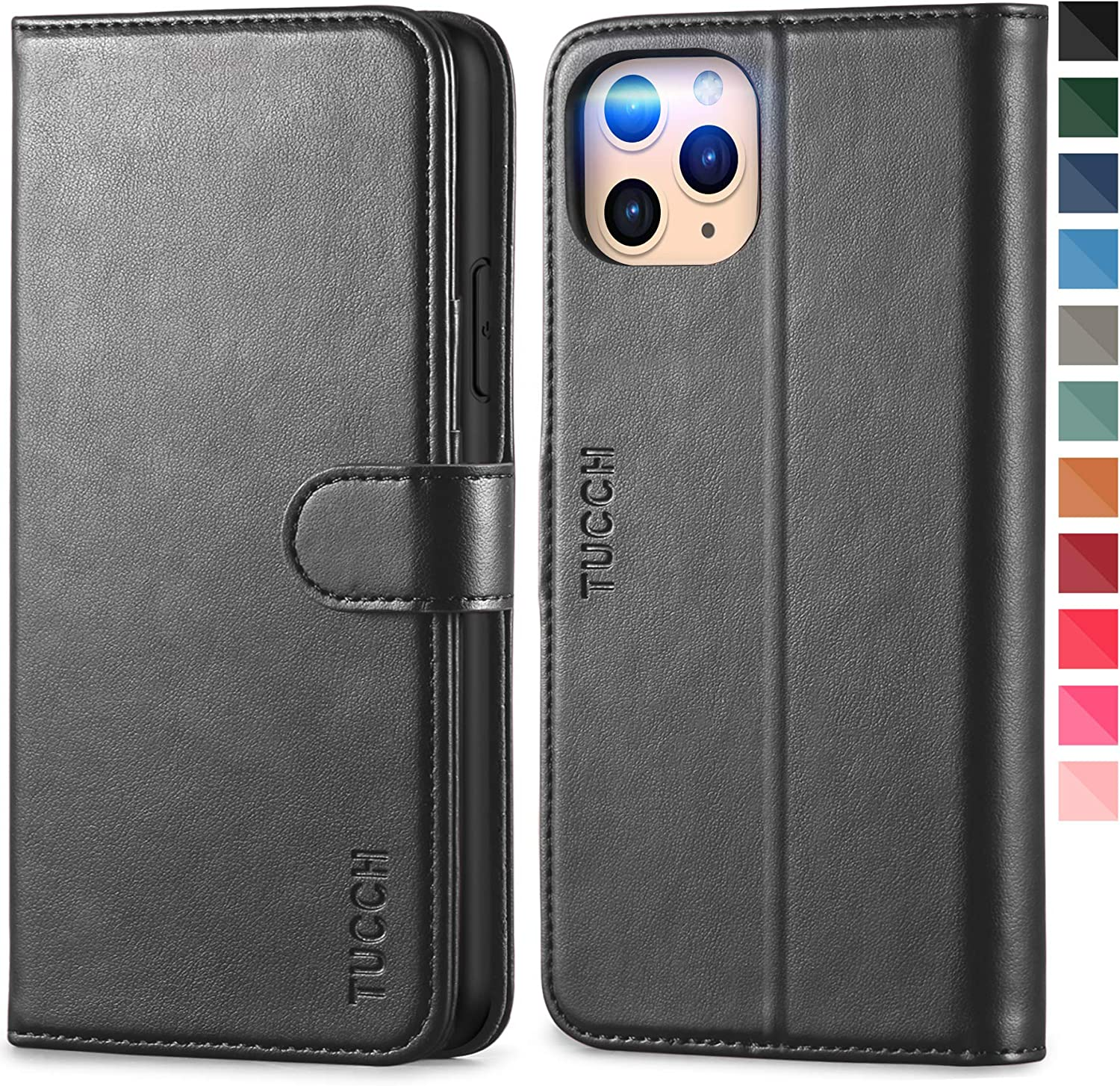 Cover for Leather Mobile Phone Cover Kickstand Card Holders Extra-Shockproof Business Flip Cover iPhone 11 Pro Max Flip Case