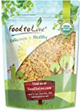 Food To Live Organic Ground Golden Flaxseed (Cold-Milled, Raw Flax Seeds Powder / Meal / Flour, Non-GMO, Bulk) (1 Pound)