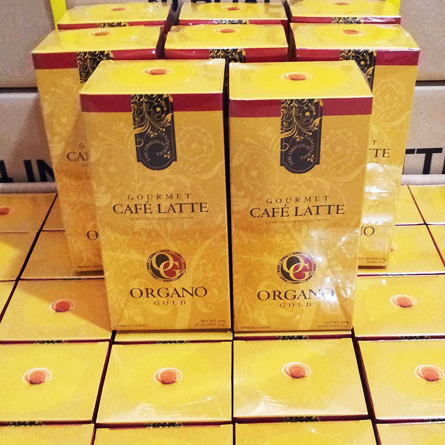 8 boxes organo gold gourmet cafe latte with 100