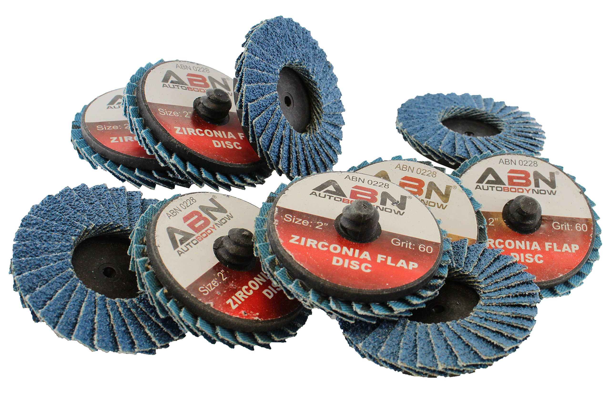 "ABN 2"" T27 40 Grit High Density Zirconia Alumina Flat Flap Disc Roloc Roll Lo..."