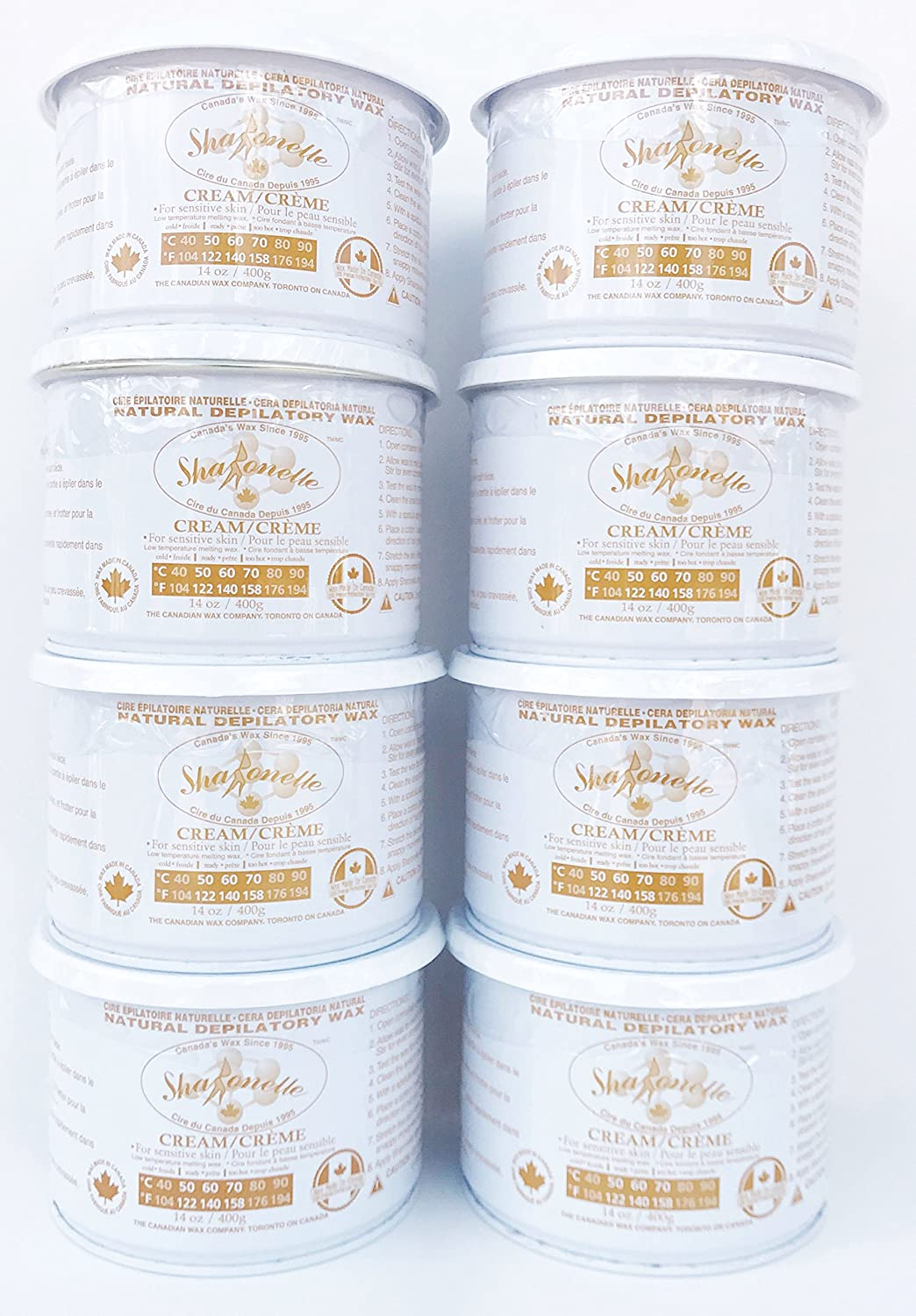 Amazon.com: Sharonelle Natural Cream Soft Wax For Sensitive Skin in 14 oz. - 8 cans: Health & Personal Care