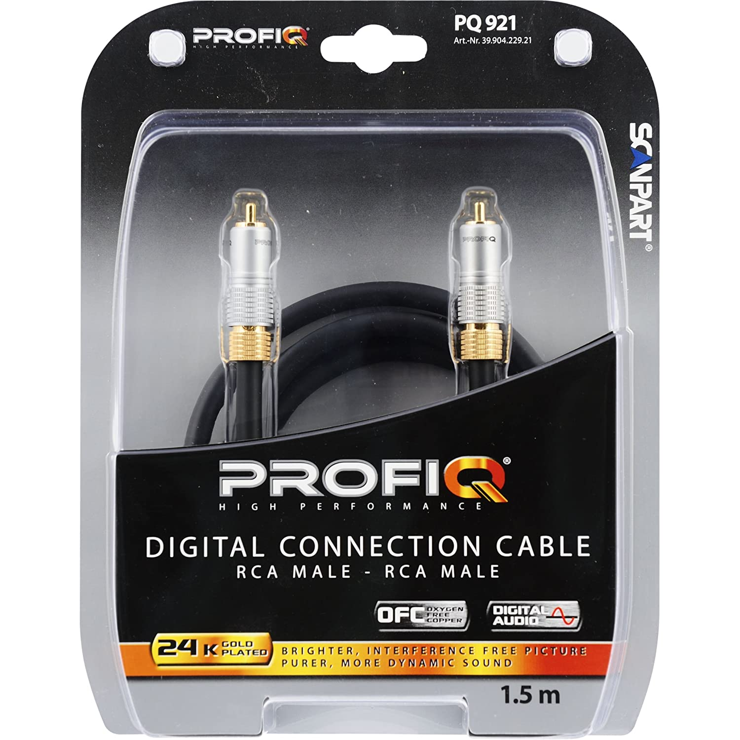Scan Part Profi Q - Cable RCA coaxial digital (24 k, doble ...